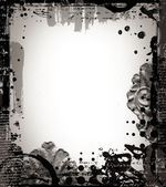 Grunge retro style abstract textured frame for your projects — Stok fotoğraf