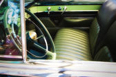 Classic car front seat detail , shallow DOF photo — Stock Photo