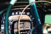 Classic car dashboard detail , shallow DOF — Stock Photo