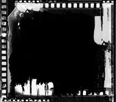 Grunge film frame with space for your text or image — 图库照片