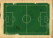 Grunge style llustration of a football ,soccer,pitch — Photo