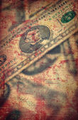 US dollars background , artistic processed grunge textured style — Stock Photo