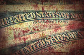 Blood money, US Dollars ,artistic processed and toned photo — 图库照片