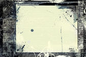 Grunge retro style frame for your projects — 图库照片