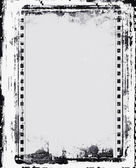 Grunge film frame with space for text or image — Photo