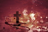 Grunge abstract textured  spiritual collage — Stockfoto