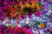 Grunge art style colorful textured abstract digital background — Foto Stock