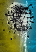 Grunge art style colorful textured abstract digital background — Stockfoto