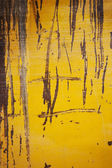 Grunge yellow metal texture or background — Stock Photo