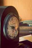 Antique clock artistic toned — 图库照片
