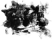 Grunge ink texture isolated on white — Foto de Stock
