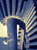 Gear wheel mechanism, artistic toned — Stock Photo
