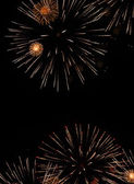 Firework explosion in the night sky — Stock Photo