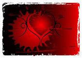 Grunge valentines abstrakt bakgrund — Stockvektor
