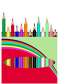 Coloured pencils — Stock Vector