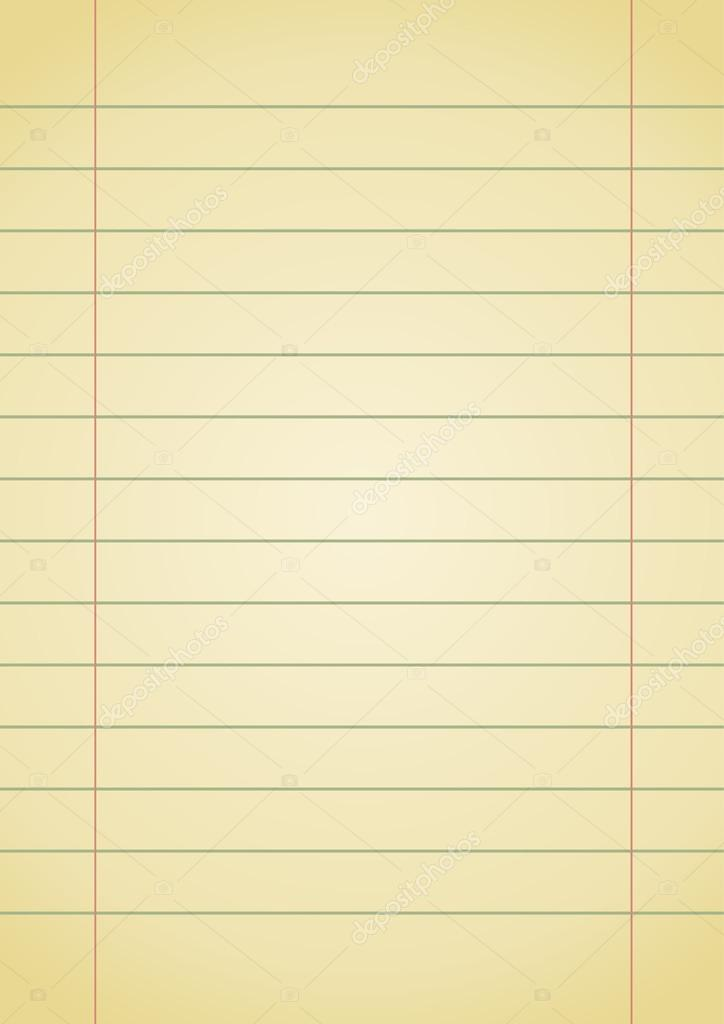 Old Notebook Paper Background Old Yellow Notebook Paper