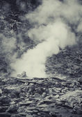 Hot spring in Indonesian vulcano aerea — Stock Photo