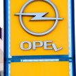 Stock Photo: Broken Opel Sign
