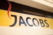 джейкобс логотип в кафе — Стоковое фото