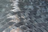 Slate roof detail — Stock Photo