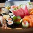 Stock Photo: Sushi and Sashimi