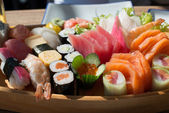 Sushi and Sashimi — Stock Photo
