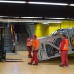 Escalator construction works — Stock Photo