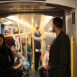 Commuting Vienna metro — Stock Photo