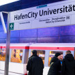New Hafencity station in Hamburg - Stockfoto