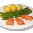 Royalty-Free Stock Photo: Asparagus with Salmon