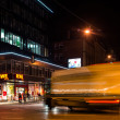 Stock Photo: Night scenery at crossroads - truck