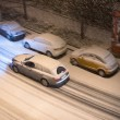 Cars in snow — Stock Photo