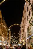 Christmas shopping in Hamburg — Stock Photo