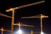 Grúas de construcción — Foto de Stock