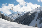 Skilift in Montafon valley — Stock Photo