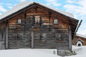 Gorgeous old skiing hut — Stock Photo
