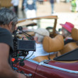 Filming a Mercedes SL 280 classic car — Stock Photo
