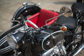 BMW classic sidecar motorbike — Stock Photo