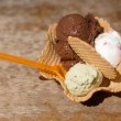 Italian ice cream in bowl — Stockfoto