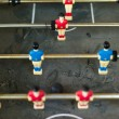 Old and rundown soccer table game — Stock Photo
