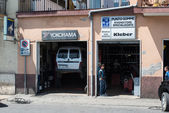 Typical small Italian garage — Stock Photo