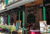 Cozy Trattoria (tavern) in Manarola at Cinque Terre national park. Italy — Stock fotografie