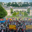 Stuttgart 21 - Demonstration meeting protests against Turkey — Stock Photo