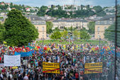Stuttgart 21 - Demonstration meeting protests against Turkey — Stock Photo