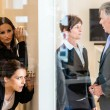 Stock Photo: Eavesdropping in office