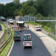 Stock Photo: Construction works on German interstate