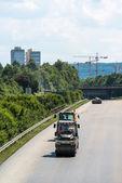 Yol silindirleri, asfalt çalışmaları sırasında — Stok fotoğraf