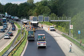 Construction works on German interstate — Stock Photo