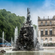 Fountain figures in front of castle Herrenchiemsee — Stock Photo