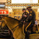 New York police on horseback — Stock Photo